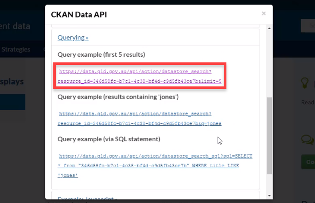 CKAN Data API with query examples