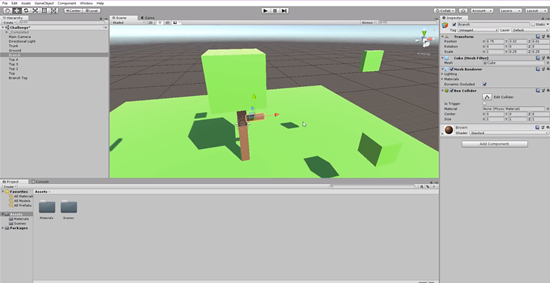 3D branch snapped to trunk in Unity