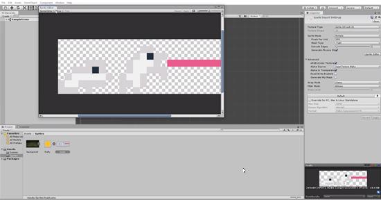 Unity sprite editor window