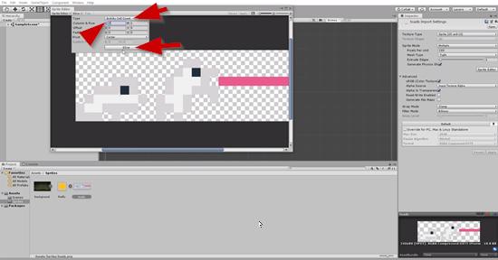 Unity slice options in sprite editor window