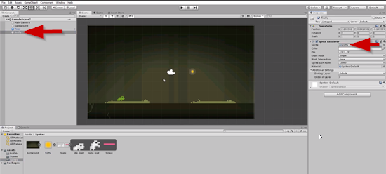 Unity scene with Firefly added