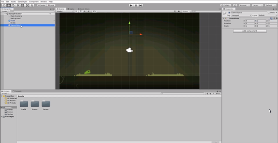 Unity scene with Empty Game Object added
