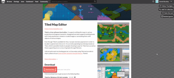 Tiled Map Editor download page
