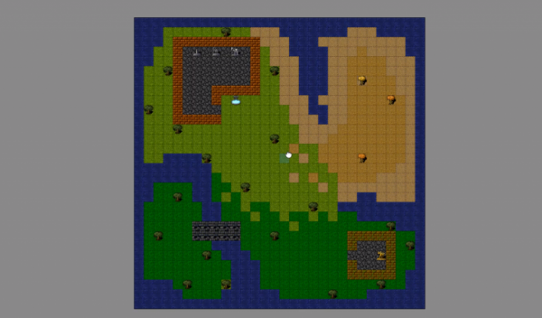 2D Map made with Tiled