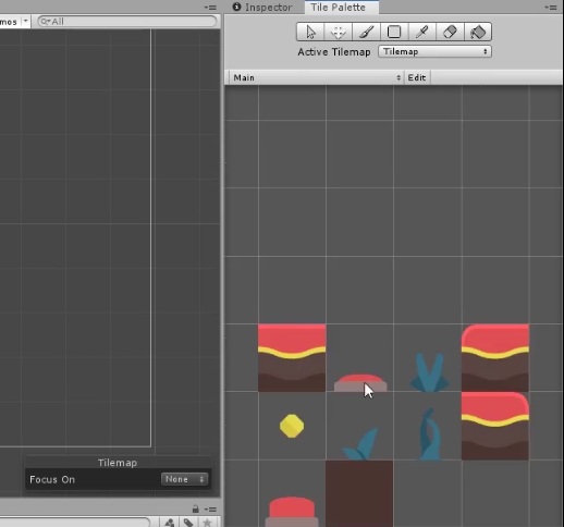 Unity Tile Palette with sprites