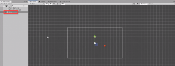 Unity scene with Grid added
