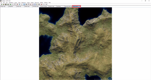 L3DT generated map with texture map selected