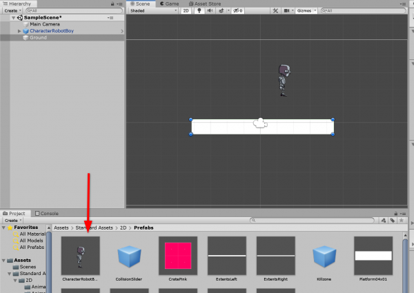 Unity Robot character added to scene