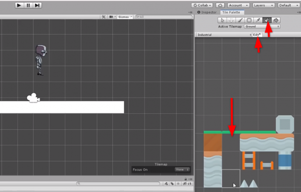 Unity Tile Palette tools and sprites