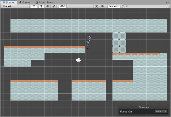 Unity tilemap with roof tiles added