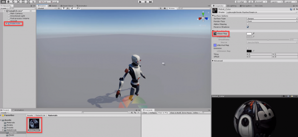 Unity scene with Robot Kyle model added