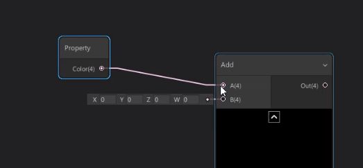 Unity Property Node connected to Add