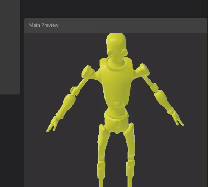 Shader graph main preview with yellow albedo