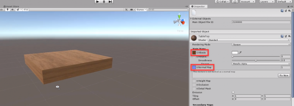 3d cube object textured with wood material in Unity
