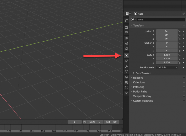 Blender Transform options in sidebar