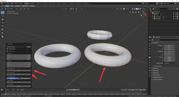 Blender with Torus ring model added