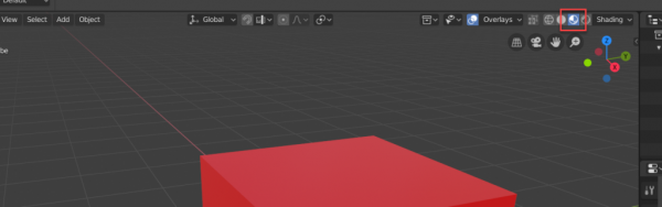Blender dev mode button circled