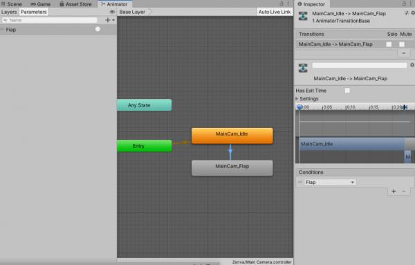 Game feel tutorial - Animator Transition Arrow