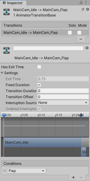 Game feel tutorial - Animator Transition Duration