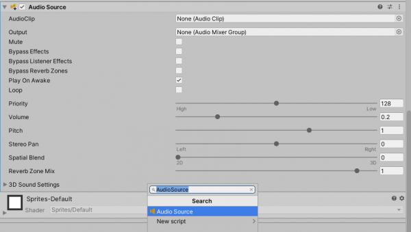 Game feel tutorial - Audio Source