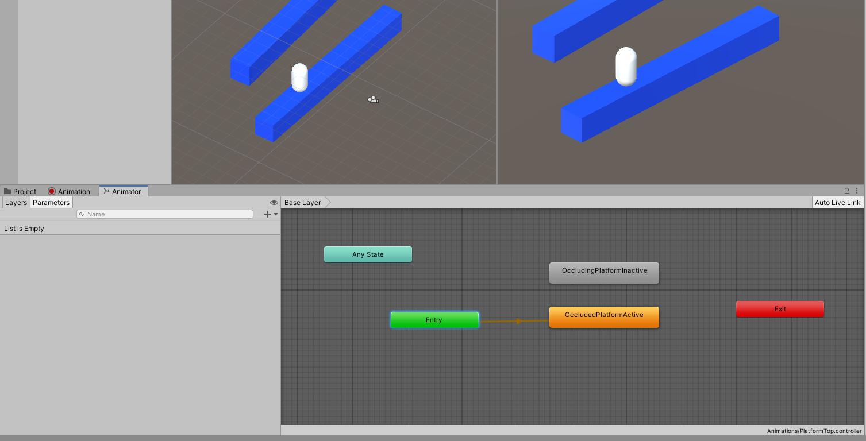 The Animator window in Unity