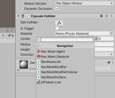 Newly imported navigation scripts