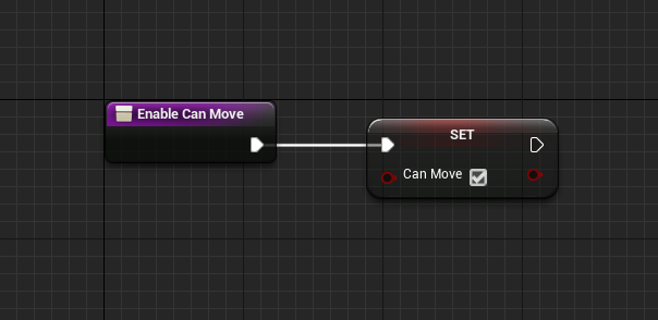 Unreal Engine Enable Can Move node