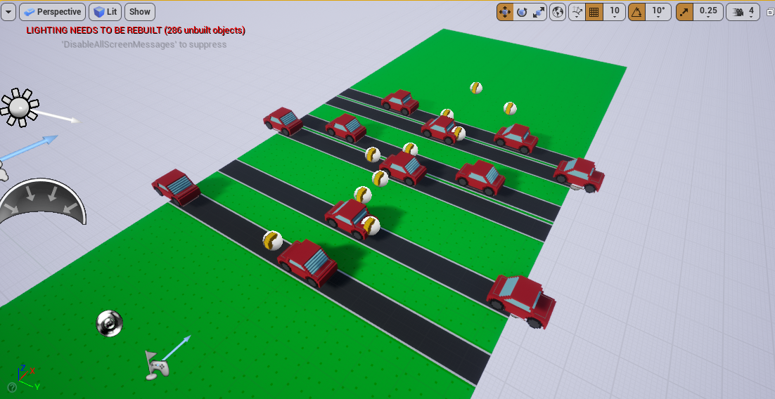 Various cars added to Unreal Engine arcade game
