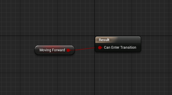 Logic to control transitions when moving forward