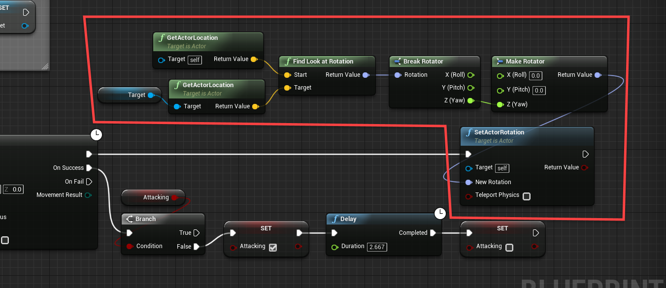 Edited logic for Camera rotation in Unreal Engine Event Graph