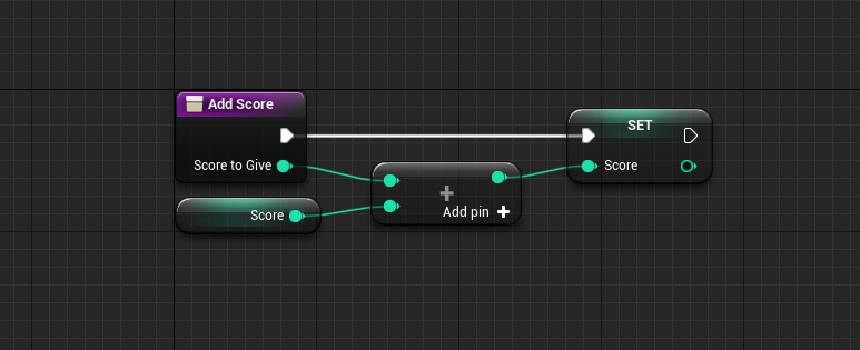 Add Score logic in Unreal Engine Event Graph