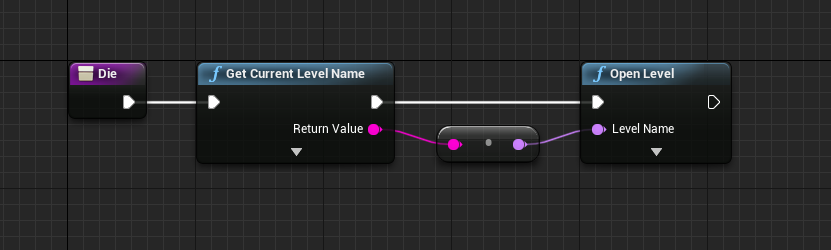 Dying blueprint logic for player in Unreal Engine