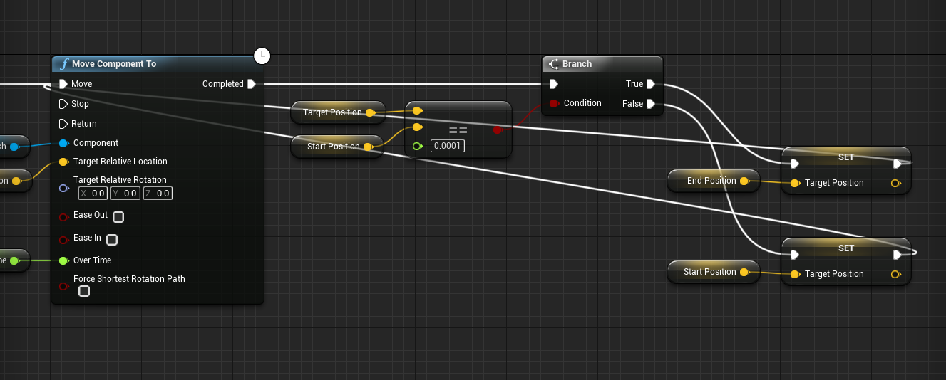 Move Component To with various connections in Event Graph