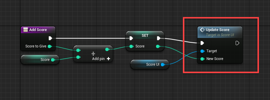 Update Score node added to Event Graph