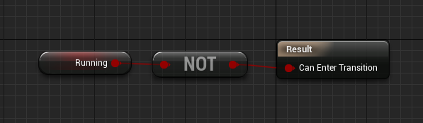 NOT node to project state machine logic in Unreal Engine