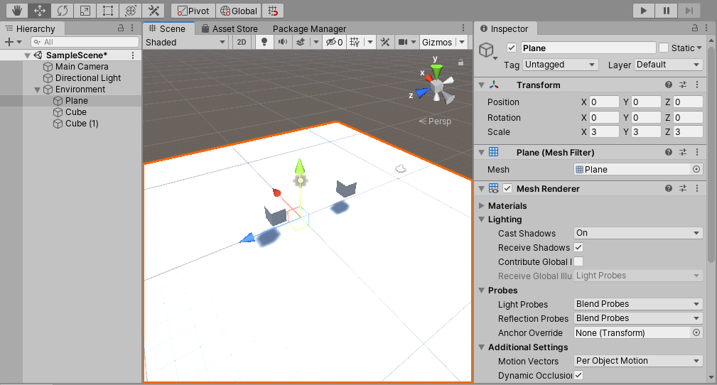 Parent Object of the Agent in Unity