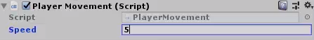 Player Movement script added to Player object