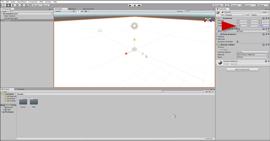 Plane object in Unity named to Ground