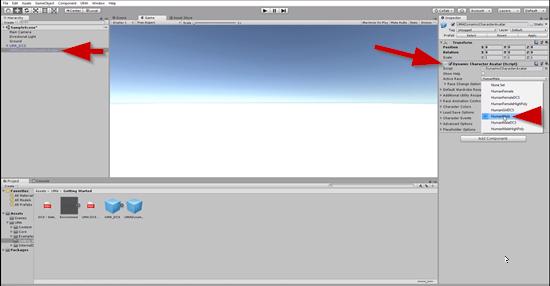 UMA settings in Unity Inspector