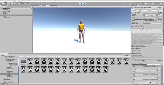 Hairstyle recipes for UMA human male in Unity