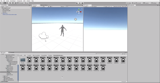 Unity split screen for Scene and Game