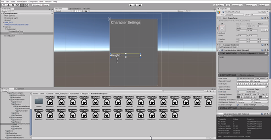 Text object changed to Height in Unity UI