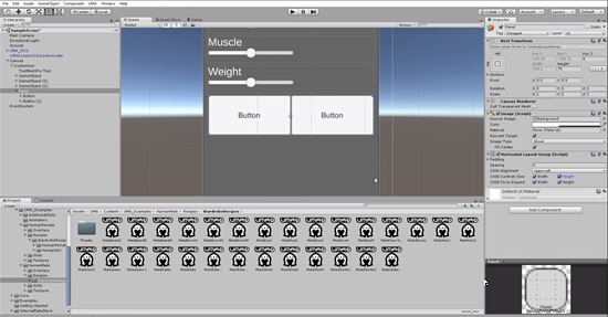 Unity UI with buttons and Horizontal Layout Group
