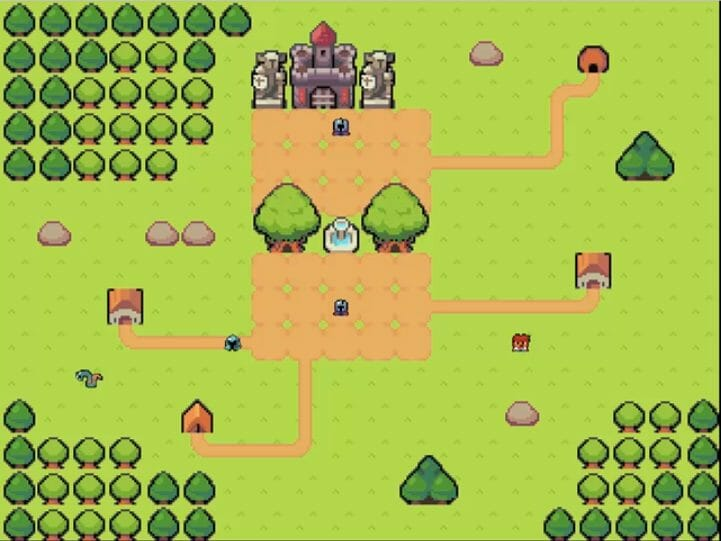 Turn-based RPG map screen made with Phaser