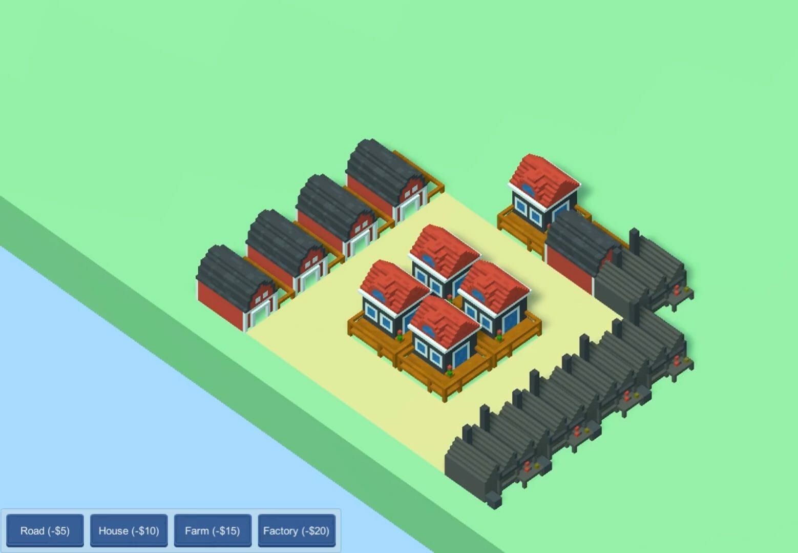 City building game made with Unity and C#