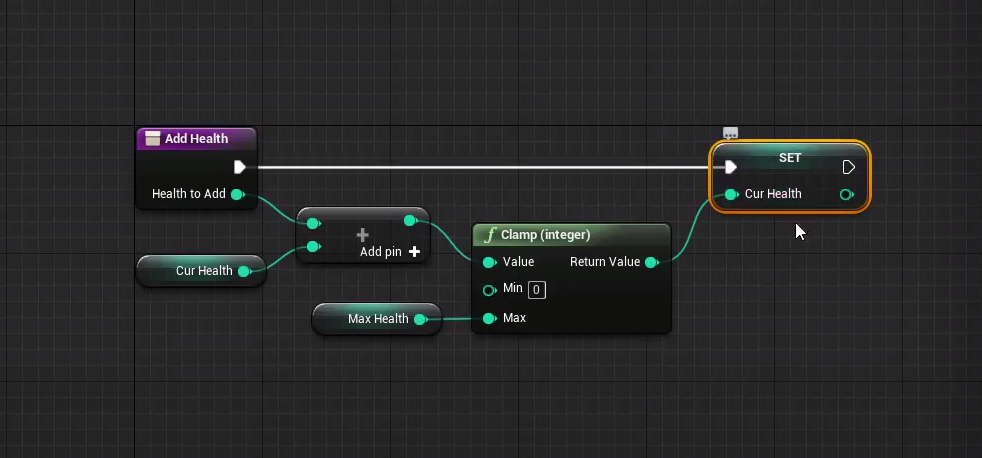Unreal Engine Blueprint visual scripting.