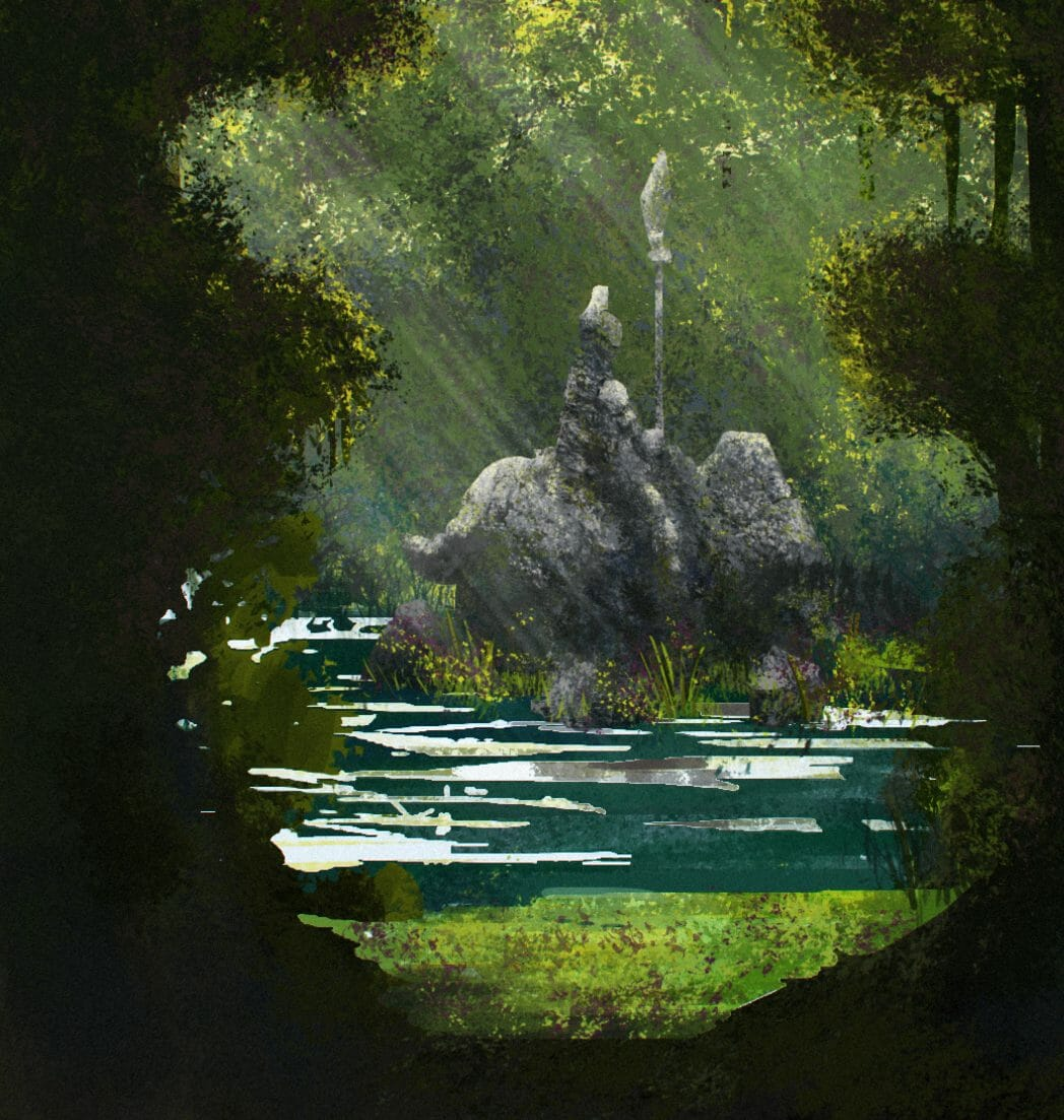 An example of landscape concept art