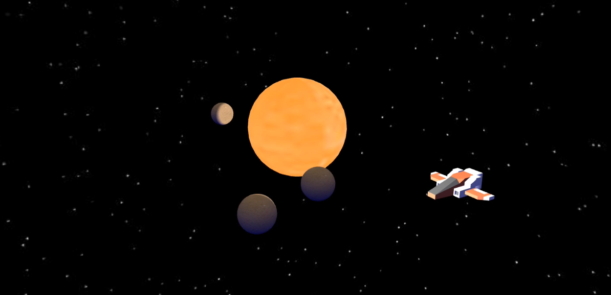 Solar system project made with Babylon.js