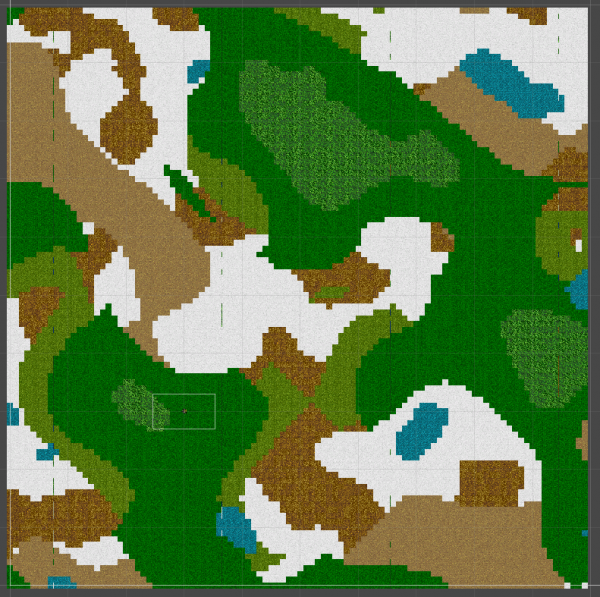 Procedurally generated map in Unity