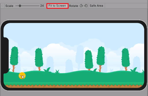 Fit to Screen button in Unity Device Simulator